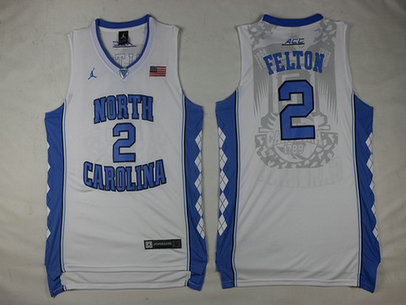 North Carolina Tar Heels #2 Jalek Felton White Soul Swingman Basketball