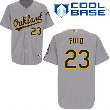 Oakland Athletics #23 Sam Fuld Gray Jersey