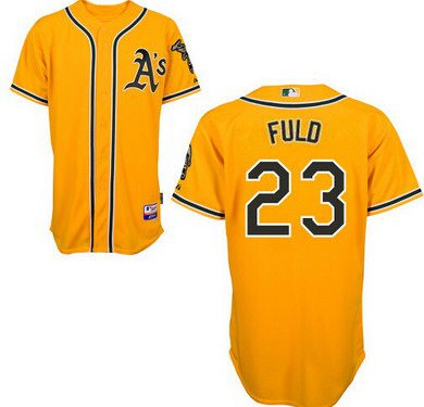 Oakland Athletics #23 Sam Fuld Yellow Jersey