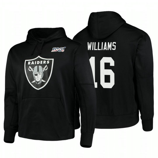 Oakland Raiders #16 Tyrell Williams Nike NFL 100 Primary Logo Circuit Name & Number Pullover Hoodie Black