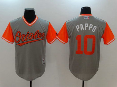 Orioles 10 Adam Jones Pappo Gray 2017 Players Weekend Nickname Jersey