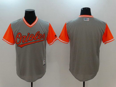 Orioles Majestic Gray 2017 Players Weekend Team Nickname Jersey