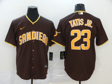 Padres 23 Fernando Tatis Jr. Brown Nike 2020 Cool Base Jersey