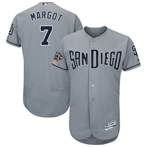 Padres 7 Manuel Margot Gray 50th Anniversary And 150th Patch FlexBase Jersey