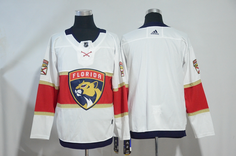 Panthers White Red Adidas Jersey