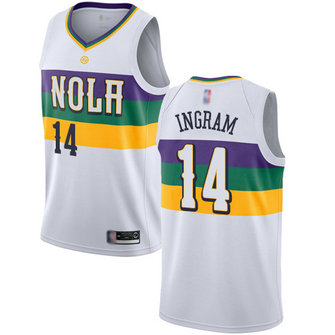 Pelicans #14 Brandon Ingram White Basketball Swingman City Edition