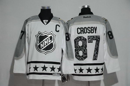 Penguins 87 Sydney Crosby White Metropolitan Division 2017 NHL All-Star Game Premier Jersey