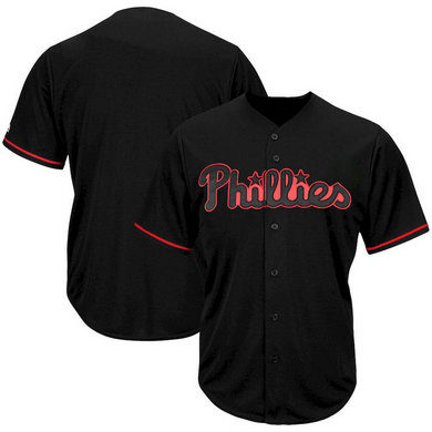 Philadelphia Phillies Majestic Big & Tall Pop Fashion Jersey Black