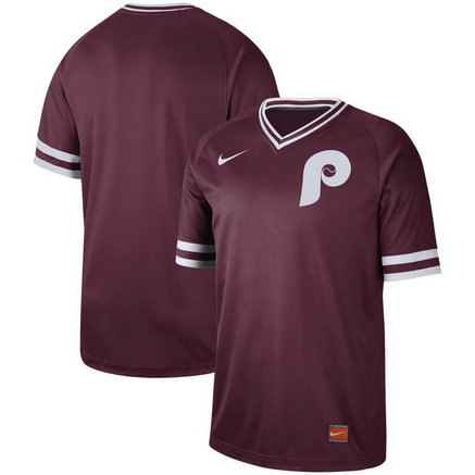 Philadelphia Phillies Nike Cooperstown Collection Legend V-Neck Jersey Maroon
