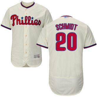 Phillies #20 Mike Schmidt Cream Flexbase Authentic Collection Stitched MLB Jersey