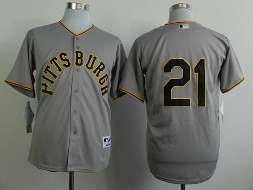 Pirates #21 Roberto Clemente Grey 1953 Turn Back The Clock Stitched Baseball Jersey
