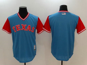 Rangers Majestic Light Blue 2017 Players Weekend Team Nickname Jersey
