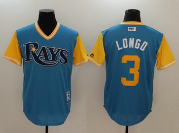 Rays 3 Evan Longoria Longo Majestic Light Blue 2017 Players Weekend Nickname Jersey