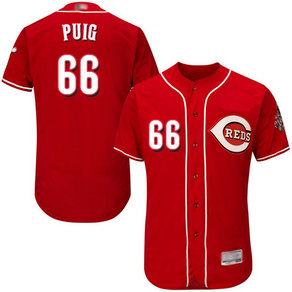 Reds #66 Yasiel Puig Red Flexbase Authentic Collection Stitched MLB Jersey