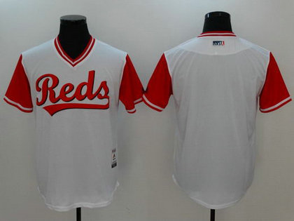 Reds Majestic White 2017 Players Weekend Team Nickname Jersey