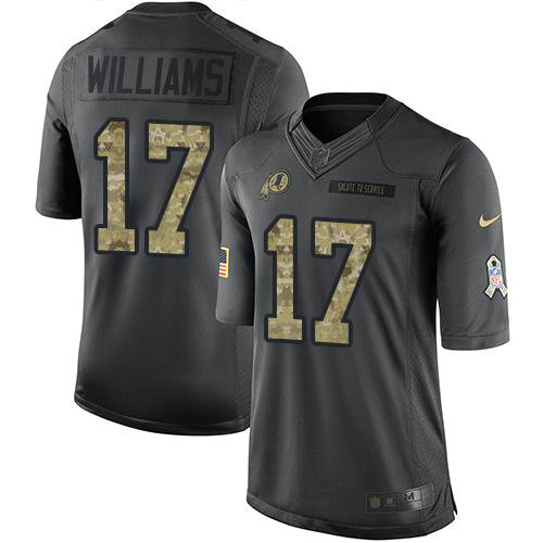 Redskins #17 Doug Williams Black Men's Stitched Football Limited 2016 Salute to Service Jersey