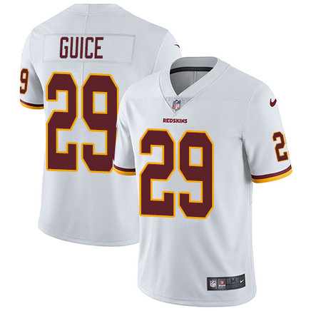 Redskins #29 Derrius Guice White Men's Stitched Football Vapor Untouchable Limited Jersey