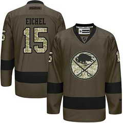 Sabres #15 Jack Eichel Green Salute To Service Stitched NHL Jersey
