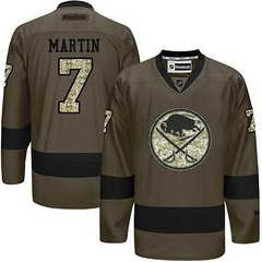 Sabres #7 Rick Martin Green Salute To Service Stitched NHL Jersey