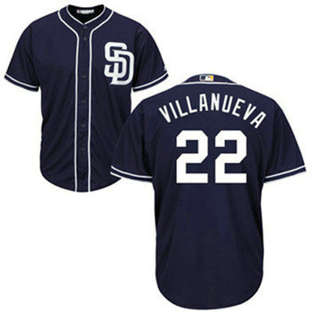 San Diego Padres #22 Christian Villanueva Navy Blue Men's Cool Base Authentic Collection Stitched Baseball Jersey