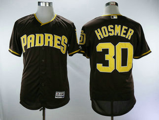 San Diego Padres #30 Eric Hosmer Brown Men's Flexbase Authentic Collection Stitched Baseball Jersey