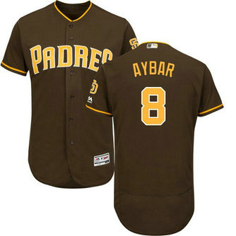 San Diego Padres #8 Erick Aybar Brown Flexbase Authentic Collection Men's Stitched Baseball Jersey