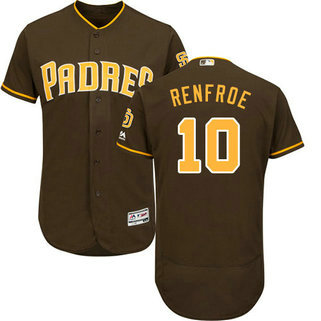 San Diego Padres 10 Hunter Renfroe Brown Flexbase Authentic Collection Men's Stitched Baseball Jersey