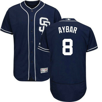San Diego Padres 8 Erick Aybar Navy Blue Men's Flexbase Authentic Collection Stitched Baseball Jersey
