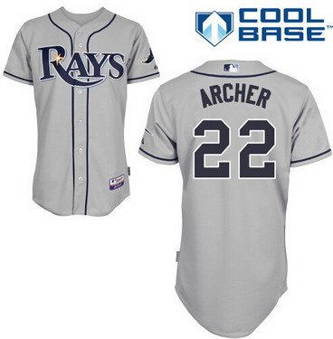 Tampa Bay Rays #22 Chris Archer Gray Jersey