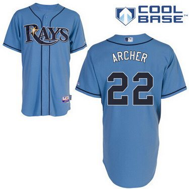 Tampa Bay Rays #22 Chris Archer Light Blue Jersey