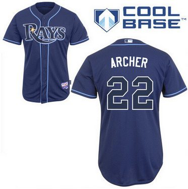 Tampa Bay Rays #22 Chris Archer Navy Blue Jersey