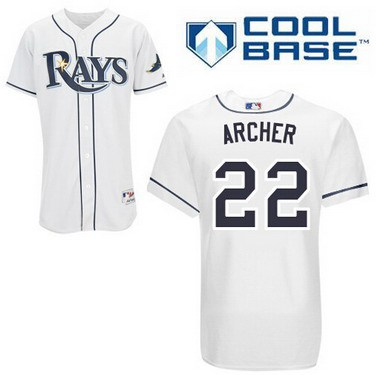 Tampa Bay Rays #22 Chris Archer White Jersey