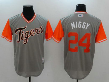 Tigers 24 Miguel Cabrera Miggy Majestic Gray 2017 Players Weekend Nickname Jersey