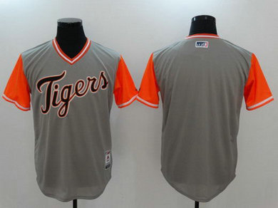 Tigers Majestic Gray 2017 Players Weekend Team Nickname Jersey
