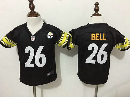 Toddler Pittsburgh Steelers #26 LeVeon Bell Black Team Color NFL Nike Jersey