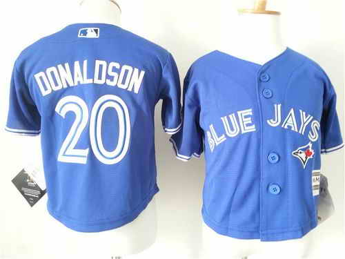 Toddler Toronto Blue Jays #20 Josh Donaldson Blue Cool Base Stitched Baseball Jersey