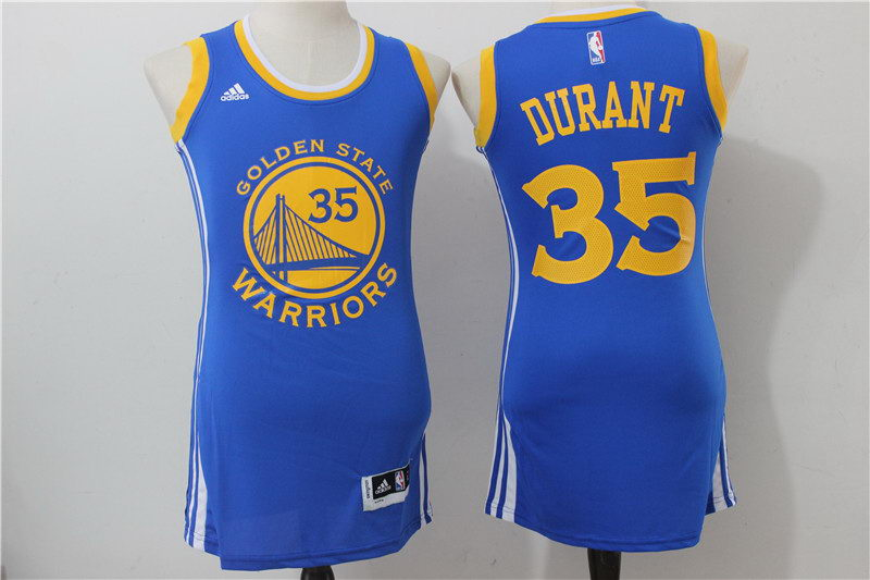 Warriors 35 Kevin Durant Royal Women Swingman Stitched NBA Jersey