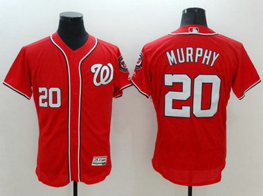 Washington Nationals #20 Daniel Murphy Red 2016 Flexbase Majestic Baseball Jersey