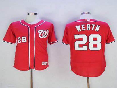 Washington Nationals #28 Jayson Werth Red 2016 Flexbase Majestic Baseball Jersey
