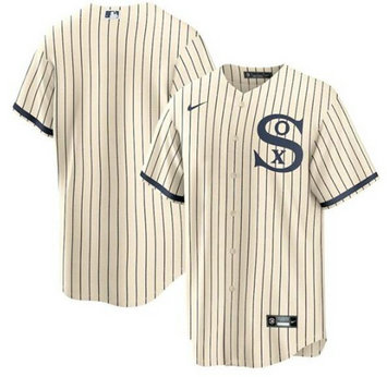 White Sox Blank Cream 2021 Field Of Dreams Cool Base Jersey