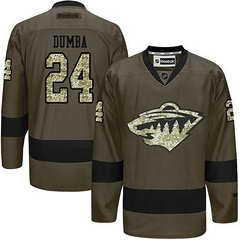 Wild #24 Matt Dumba Green Salute To Service Stitched NHL Jersey