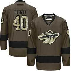 Wild #40 Devan Dubnyk Green Salute To Service Stitched NHL Jersey