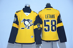 Woman Pittsburgh Penguins #58 Kris Letang Black 2017 Stadium Series Stitched NHL Jersey