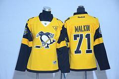 Woman Pittsburgh Penguins #71 Malkin Black 2017 Stadium Series Stitched NHL Jersey