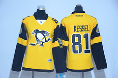 Woman Pittsburgh Penguins #81 Phil Kessel Black 2017 Stadium Series Stitched NHL Jersey