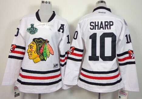 Women's Chicago Blackhawks #10 Patrick Sharp 2015 Stanley Cup 2015 Winter Classic White Jersey