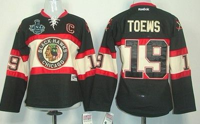 Women's Chicago Blackhawks #19 Jonathan Toews 2015 Stanley Cup Black Third Jersey