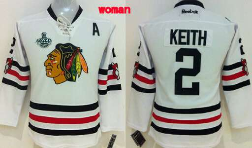 Women's Chicago Blackhawks #2 Duncan Keith 2015 Stanley Cup 2015 Winter Classic White Jersey