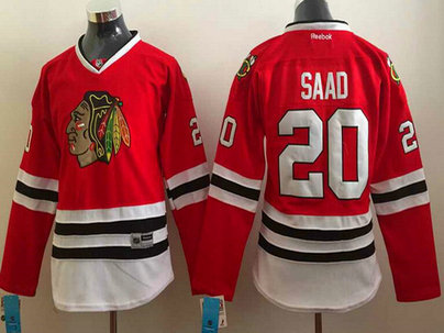 Women's Chicago Blackhawks #20 Brandon Saad Red Jersey