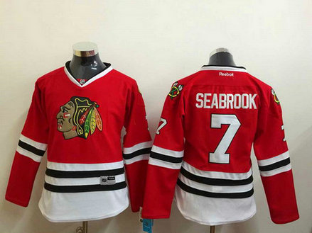 Women's Chicago Blackhawks #7 Brent Seabrook Red Jersey